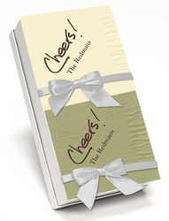Cheers Calligraphy Hostess Napkin Gift Set