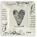 Name Art Pottery Imagine Love Plate