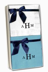 Sophisticate Monogram Napkin Gift Set in Choice of Colors