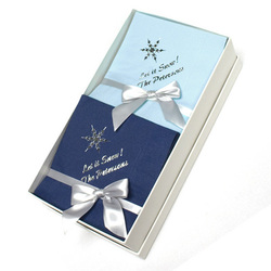 Single Snowflake Hostess Napkin Gift Set in Choice of Colors