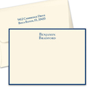 Isaac Flat Note Cards on Triple Thick Stock