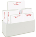 Couples Notepad Collection in White Holder