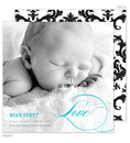Love Baby Boy Photo Birth Announcements