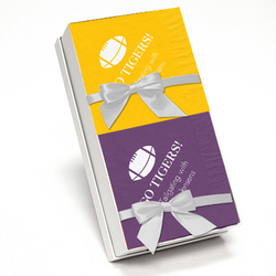 Purple and Harvest Gold Team Spirit Napkin Gift Set