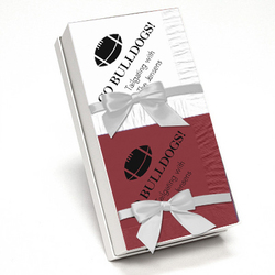 Wine and White Napkin Team Spirit Gift Set