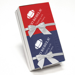Red and Navy Napkin Team Spirit Gift Set