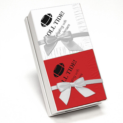 Red and White Napkin Team Spirit Gift Set