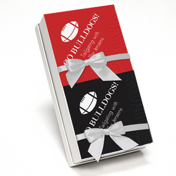Red and Black Napkin Team Spirit Gift Set