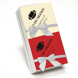 Red and Ivory Napkin Team Spirit Gift Set