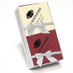 Wine and Ivory Napkin Team Spirit Gift Set