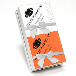 Orange and White Team Spirit Napkin Gift Set