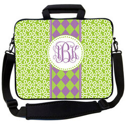 Lavender & Lime Argyle Laptop Bag