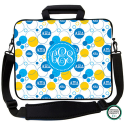Alpha Xi Delta Bubbles Laptop Bag