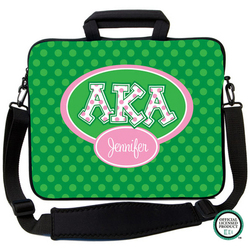 Alpha Kappa Alpha Letters on Dots Laptop Bag