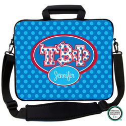 Pi Beta Phi Letters on Dots Laptop Bag