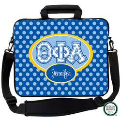 Theta Phi Alpha Letters on Dots Laptop Bag