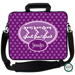 Sigma Sigma Sigma Letters on Dots Laptop Bag