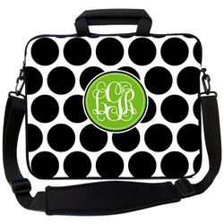 Black Dots Laptop Bag