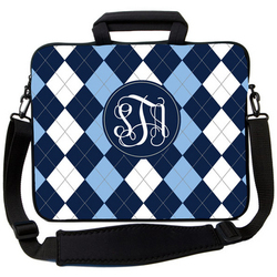 Blue Argyle Laptop Bag