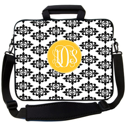 Black Damask Laptop Bag
