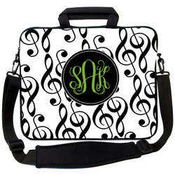 Treble Clef Music Laptop Bag