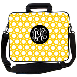 Yellow Rings Laptop Bag