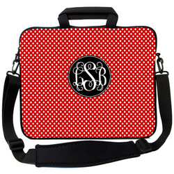 Red Polka Dot Laptop Bag