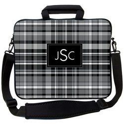 Black Plaid Laptop Bag