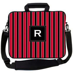 Red & Black Striped Laptop Bag