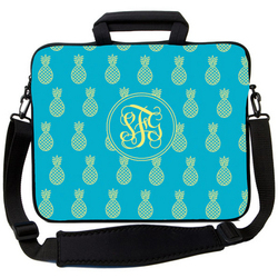 Blue Lemon Pineapple Laptop Bag