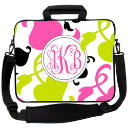 Pink & Green Spring Laptop Bag