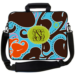 Chocolate Teal Vintage Laptop Bag