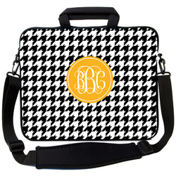 Black Houndstooth Laptop Bag