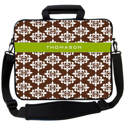 Chocolate Damask Laptop Bag
