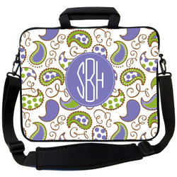 Purple Paisley Peas Laptop Bag