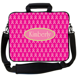 Breast Cancer Ribbon Laptop Bag