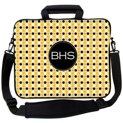 Yellow Micro Dot Laptop Bag
