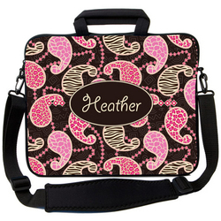 Animal Pink Paisley Laptop Bag
