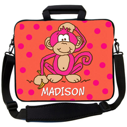 Hot Pink Monkey Laptop Bag