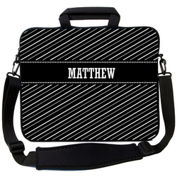 Black Stripe Laptop Bag