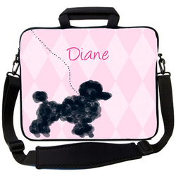 Paris Poodle Laptop Bag