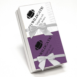 Purple and White Napkin Team Spirit Gift Set