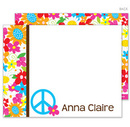 Floral Peace Sign Flat Note Cards