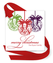 Christmas Ornaments Gift Tags with Attached Ribbon