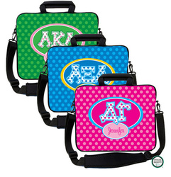 Design Your Own Sorority Letters on Dots Laptop Bag