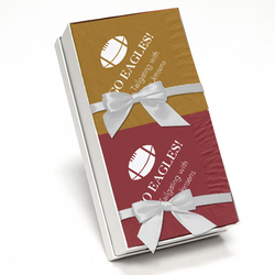 Wine and Gold Napkin Team Spirit Gift Set