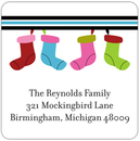 Christmas Stockings Address Labels