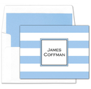 True Blue Stripe<br> Foldover Note Cards