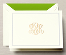 Hand Engraved Monogram with Frame Note Cards