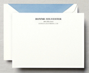Pearl White Letterpress Correspondence Cards